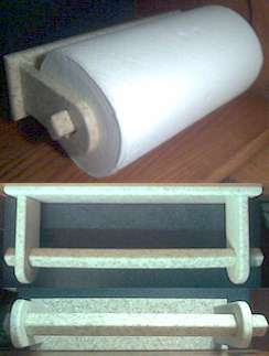 Corian Surface Mounted Paper Towel Holder